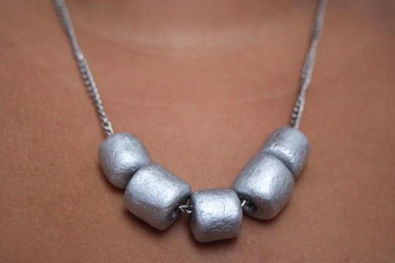 collier argenté